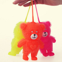 Wholesale Little Bear Lights - Little Bear Design Flash Light Maomao Luminous Ball Direct Vent Children's Educational Toys Glow Party Supplies ZA3630