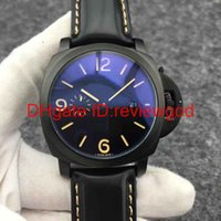 Wholesale Marina Black - High Quality Luxury fashion brand MARINA automatic mechanical watch leather strap resin mirror glass mens watches 44 mm