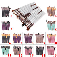 Wholesale High Quality Cheap Cosmetics - DHL Professional Makeup Brushes Sets 15 pcs Cosmetic Kits Powder Foundation Eyeshadow Brush Make Up Tools Cheap Price High Quality