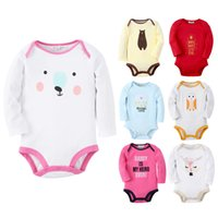 Wholesale Design Romper Infant - Baby Newborn Boy Girl Romper Cotton Animal Number Pattern 6 Designs Infant Bodysuit Children Kids Clothing