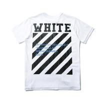 Wholesale Yellow Plaid Shirt Men - Hot Sales best edition 2016 Off-White CO men short sleeve tshirt tee off white virgil abloh t shirt tee kanye west t-shirt striped