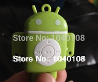 Wholesale Mp3 Player Android Robot - Wholesale- Wholesale High Quality Android Robot ONLY MP3 Music Player