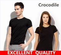 Wholesale Hip Hop Clothing 4xl - mens t-shirt tops tees fitness hip hop men Crocodile Embroidery cotton tshirts homme camisetas t shirt brand clothing multi 8 color