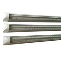 2 lampes fluorescentes achat en gros de-La forme de v 2ft 3ft 4ft 5ft 6ft 8ft a mené des lumières de tube T8 a intégré l'éclairage fluorescent refroidisseur de pièce à la maison a mené la lampe économiseuse d'énergie