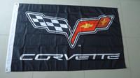Wholesale Wholesale Corvette - Wholesale- free shipping corvette flag , corvette banner, 90X150CM size,100% polyster,bintang
