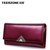 Wholesale Evening Clutch Bag Large - Teemzone Women Wallets And Purses Ladies Leather Brand Handbags Fashion Evening Clutch Bag Large Capacity Wallet Free Shipping