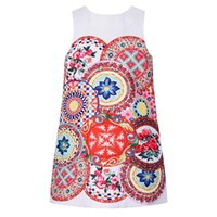 Wholesale Girls Dresses Rose - Girls Summer Dresses Robe Princesse Fille Brand Princess Dress Girl Costume Carretto Con Rose Brocade Dress Kids Clothes