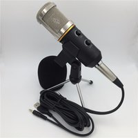 Wholesale Professional Audio Amplifiers - New MK-F200 TL professional sound wired microphone Audio Recording USB Condenser karaoke system for Amplifier player Guitar