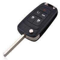 araba arabası tuşları toptan satış-Garantili 100% Buick Excelle Verano için Katlanır Uzaktan Anahtar Kabuk LaCrosse Regal Araba Alarmı Konut Anahtarsız giriş Fob Vaka Ücretsiz Kargo