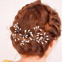 manta de pérola princesa venda por atacado-New Charming Silver Princess Hairbands Handmade Headdress Headpiece casamento de cristal pérola acessórios para o cabelo de noiva cabeça jóias