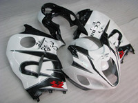 Wholesale Hayabusa Corona Fairing - Plastic Fairings GSXR 1300 2000 Fairing Kits HAYABUSA 2003 White Black for corona ABS Fairing GSX R1300 2002 1997 - 2007