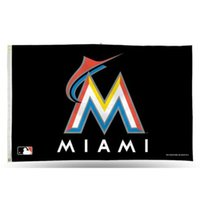 90*150 cm sports team banners - Polyester Flag Banner Miami Marlins Flag Baseball Team Flags Sports Flags Champion Team Celebration Banner Event Party x5 Feet