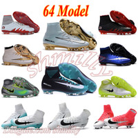 Wholesale Gold Acc - mens high ankle Football Boots Cristiano CR7 Mercurial Superfly V Soccer Shoes ACC magista Obra II FG Soccer Cleats men neymar Hypervenom 2