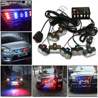 Wholesale hazard warning - LED Warning Lights, Gliving Car Emergency Hazard Warning Strobe Light Flash Waterproof and Deck Decorative Lights for Front Grille Deck