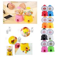Wholesale Dispenser Candies - Cute Sweets Mini Candy Machine Bubble Gumball Dispenser Coin Bank Kids Toy Worldwide sale