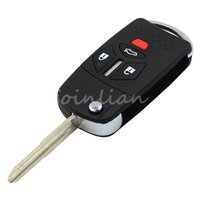 Wholesale Car Keys Blanks - car Brand New 4 Button ModIfied Replacement Housing Shell Folding Remote Blank Key Case Fob 3+1 Button MITSUBISHI ECLIPSE LANCER