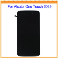 Wholesale alcatel digitizer - Wholesale- 4.7 inch For Alcatel one touch idol 3 OT6039 6039 LCD Screen Display with Touch Screen Digitizer with Frame Free Shipping