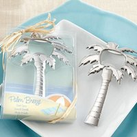 Wholesale Bridal Keepsake - Beach Themed Wedding Favour Palm Tree Bottle Opener Bridal Shower Favor Gifts Guest Keepsake Souvenirs Giveaway ZA3769