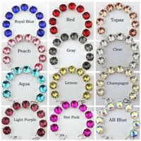 Wholesale Bubble Buttons - Wholesale- 15*15 MM 9 Dot Glass Crystal Statement Bracelet for Women 2016 Fashion Silver Round Crystal Button Bubble Bracelets Bangles