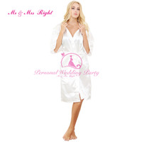 Wholesale Womens Sleepwear Shorts - Wholesale- 2016 Silk Robe Bathrobe Women Short Satin Robe Women Peignoir Womens Sleepwear Robes Womens Dressing Gown Pijama Mono WKD