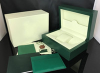 Wholesale Paper Bag Tags - Luxury Brand New Green Gift Boxes 116610 116660 Mens Watch Box Original Wooden Inner Outer Woman's Men Watches Boxes Leather bag Papers