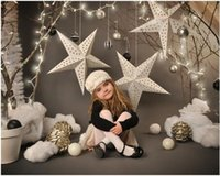 Wholesale 150X220cm Vinyl Photography Background Christmas star Computer Printed Custom children Photography Backdrops for Photo Studio F
