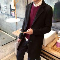 Men's Trench Coats Jacket Paragraph dust coat grows in the plus-size woollen overcoat woolen cloth designer