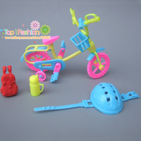 Wholesale Wholesale Kelly Dolls New - New 4Pcs lot Doll Accessories For Barbie Dolls   mini kelly doll bike Play House Toys for Girls Baby