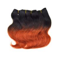 Wholesale Brazilian Virgin 6pcs - 7a Ombre Orange Brazilian Body Wave Virgin Hair 6pcs 300g Short Weave Red Brazilian Two Tone 1b 350 Brazilian Color Hair Bundles