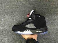 обувной бренд v оптовых-Оптовая новый 5 V OG черный металлический Серебряный мужчины баскетбол обувь 5s женская спортивная обувь кроссовки Марка тренеры размер 36-47