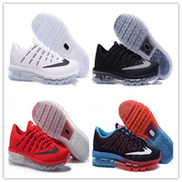 2017 High Quality Mesh Knit Airlis Sportswear Hommes Femmes Maxes 2016 Chaussures de course Cheap Sports Maxes Trainer Sneakers taille 36-46