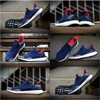 Wholesale Chinese Leather Box - (With shoes Box) High Quality Hypebeast Ultra Boost Uncaged Chinese New Year Midnight Navy Red Men Running Shoes Sport Sneakers Shoes