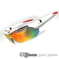 Wholesale orange ride - New Sunglasses Men Women Brand Design Riding Sports Sun Glasses UV400 Cycling Eyewear Ladies Racing Motorcycle with Cases Buy Online Sale