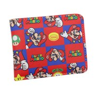 Al por mayor-Libre Super Mario World Wallet Cute Cartoon Comics monedero Estudiante Short Game Wallet Titular de la tarjeta de crédito Anime Purse