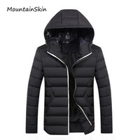 Wholesale brown winter coat men - Wholesale- Mountainskin 2017 New Men's Winter Jacket Fashion Warm Thick Male Parkas Men Casual Thermal Men Coats Branded Clothing LA198