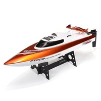 Wholesale Rc Speed Water - Wholesale-Free Shipping Feilun FT009 2.4G 4CH High Speed Racing RC Boat Speedboat with Water Cooling motor system 35KMH AS gift