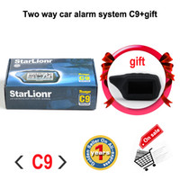 Wholesale Distance Alarm System - Wholesale-Two way car alarm system Starlionr C9 Russian version 2-way LCD remote engine starter Long distance Free shipping