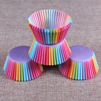Wholesale Paper Liners - Wholesale- 5 styles 100 pcs cupcake liner baking cup cupcake paper muffin cases Cake box Cup egg tarts tray cake mold decorating tools