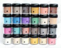ingrosso ombretto singolo ombra ombretto-L'ombretto allentato del pigmento opaco di trucco pigmenta l'ombra di singolo occhio allentato 7.5g con nome inglese 15pcs