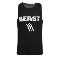 Wholesale Couples Tank Tops - Wholesale- Beauty and Beast Couple Vest Men Bodybuilding Fitness Tank Top Workout Print Vest Stringer Sportswear Undershirt