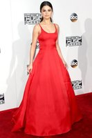 2016 Fashion Celebrity Dresses Red Carpet Selena Gomez paletta rossa elegante da sera Prom Dresses lunghi