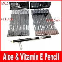 Wholesale Vitamin Free - HOT Eyeliner eyebrow Liner Pencil Black   Brown EYE   LIP Liner Pencil Aloe & Vitamin E1.6g DHL Free shipping