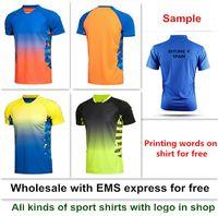 Wholesale li ning badminton blue yellow for sale - Group buy new Li Ning badminton shirt clothes sport table tennis shirt clothes