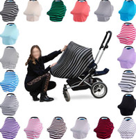 Wholesale High Chair Seat Covers - Multi-Use Baby Car Seat Cover Canopy Nursing Breastfeeding Shopping Cart High Chair Cover INS Stroller Sleep Buggy Cover KKA1479