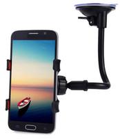 mp3 telefon tutucuları toptan satış-Evrensel Uzun Kol 360 Derece Rotasyon Cam Dashboard Araç Montaj Tutucu Cradle Sistemi Cep Telefonları için