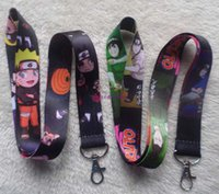 Wholesale Anime Neck Straps - lot 20 pcs Anime Naruto Neck Strap Lanyard Keychain Phone Card Badge Holder