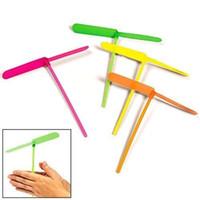 Wholesale Colored Umbrellas Wholesale - Plastic Dragonfly Plastic Bamboo-copter Bamboo Dragonfly Toy Multi-Colored(Color Random)