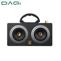 Wholesale Bass Speaker Stand - Wholesale- Wooden 20W High Power Outdoor Bluetooth Speaker Wireless Stereo Super Bass Subwoofer Dancing Loudspeaker with fm radio sound car