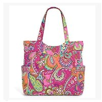Wholesale Large Fabric Tote Bag - VB Cotton Bag Women Big Flower Tote bag shoulder bag Women's handbag Genuine US Brand From Vb Factory