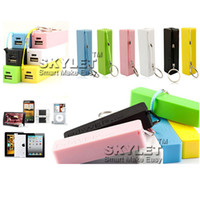 Wholesale Emergency Charger For Iphone5 - Full 2600mAh Power Bank Perfume Portable External Battery Charger Rechargerable Emergency External Battery For S4 S5 iphone5 in Retail Box